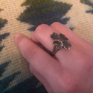 Vintage Four Leaf Clover Adjustable Ring